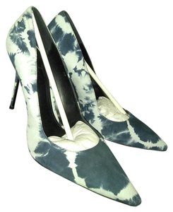ElyseWalker Los Angeles Dark blue white Pumps
