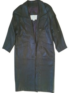 Valerie Stevens Genuine Leather Trench Coat