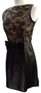Valentino Evening Lace Leather Bow Dress