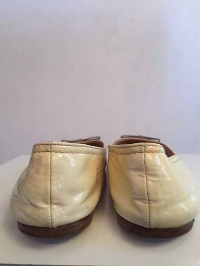 Prada Ombre Tan And Ivory Flats