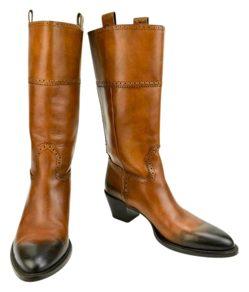ee60087c9c5 Gucci Brown Western Leather Boots/Booties Size US 8.5 Regular (M, B) 74%  off retail