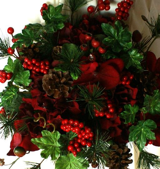 Ruby Red Berries and Greens Wedding Bouquet Image 5