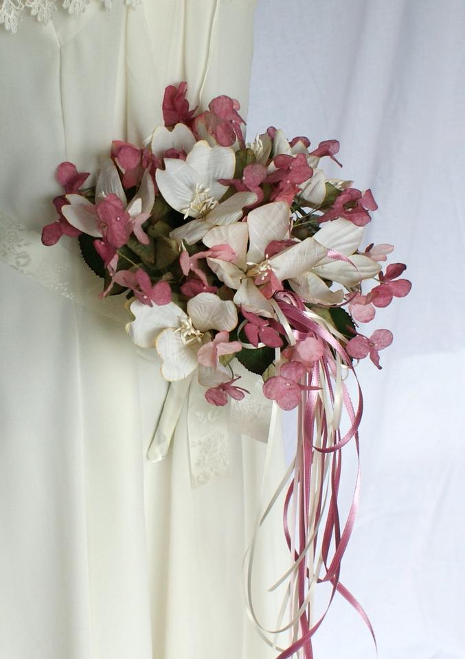 Pink And Cream Silk Butterfly Wedding Bridal Bouquet Tradesy