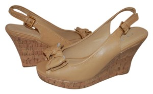 CL by Laundry Peep Toe Nude Wedges