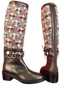 Chanel G32251 Cut-out Multi White Heel MULTICOLOR Boots