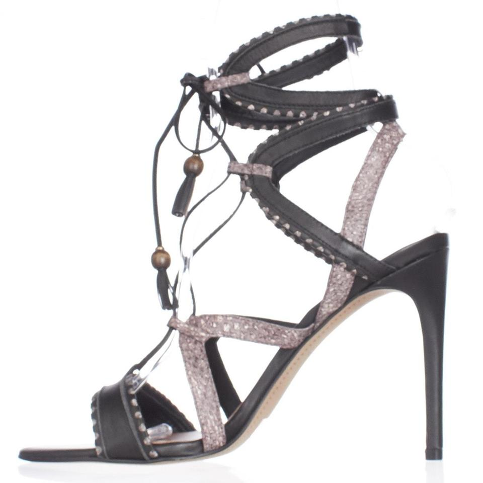 b6e4aa95c23 Dolce Vita Black Haven Multi Strap Lace Up Dress Sandals Multi Pumps ...