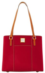 Dooney & Bourke Leather Luxury Tote in red