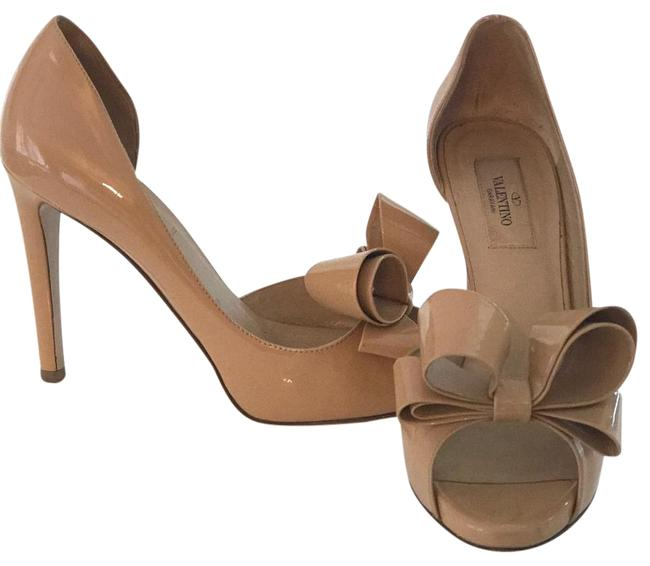 Item - Nude Couture Bow D'orsay Pump Formal Shoes Size US 8.5 Regular (M, B)