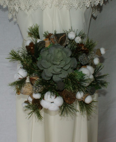 Woodland Succulent Silk Wedding Bouquet Image 0