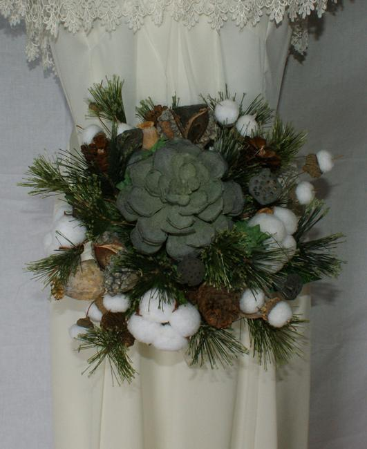 Woodland Succulent Silk Wedding Bouquet Woodland Succulent Silk Wedding Bouquet Image 1