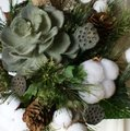 Woodland Succulent Silk Wedding Bouquet Image 3
