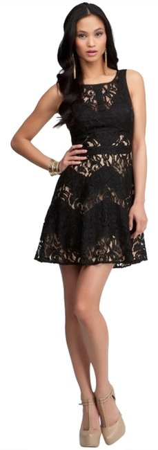 bebe Lace Skater Party Evening Dress