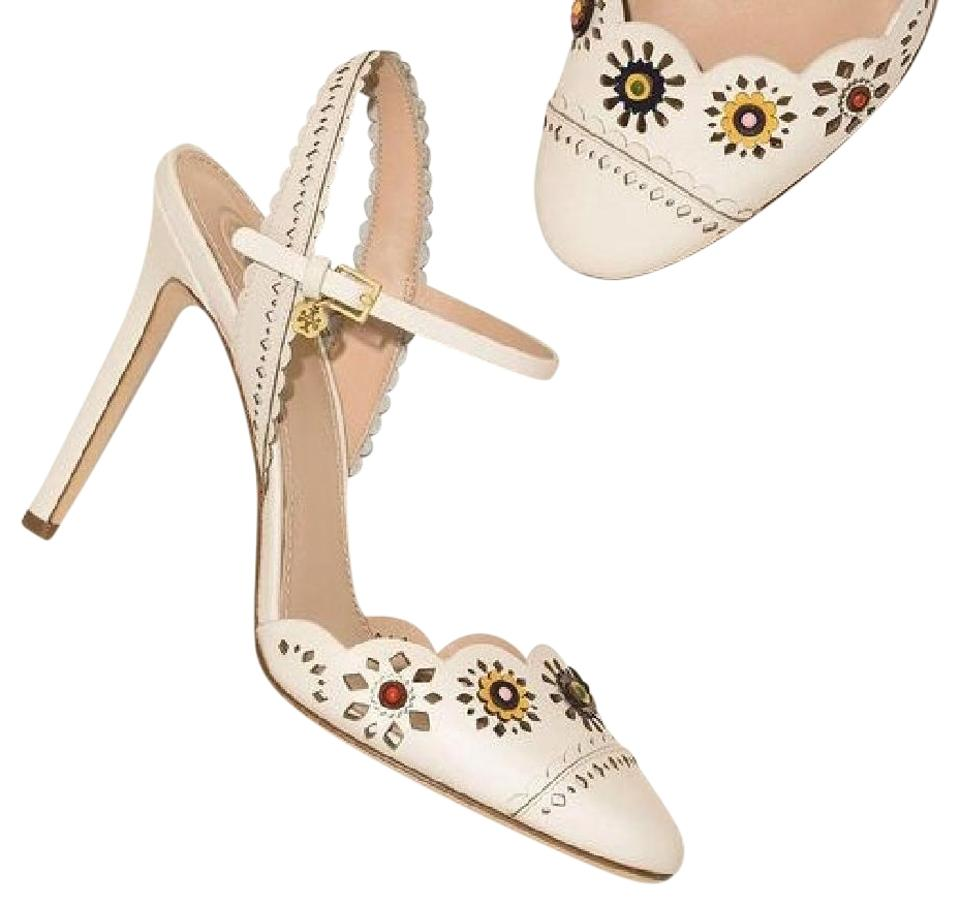 0646fb7a25b Tory Burch Marguerite Perforated Slingback Sandal Formal Shoes Size ...