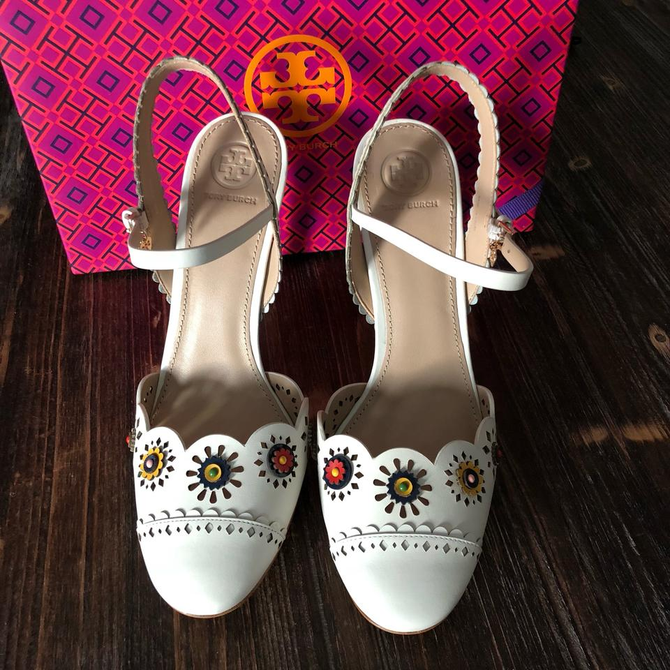 5f1d65549e0 Tory Burch Marguerite Perforated Slingback Sandal Formal Shoes Size ...