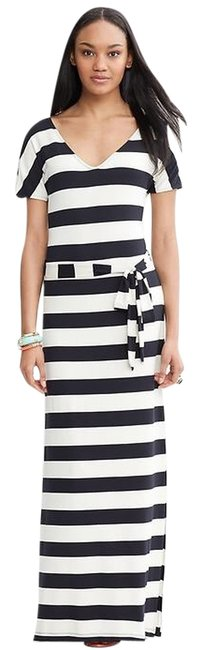 White/Navy Blue Maxi Dress by Banana Republic
