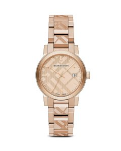 Burberry Check Etched Bracelet ,The City Watch 38mm