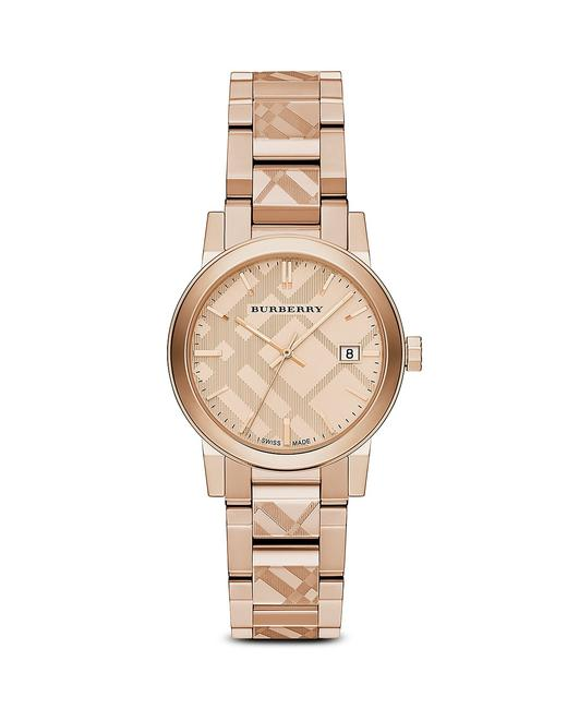 Item - Rose Gold Check Etched Bracelet The City 38mm Watch