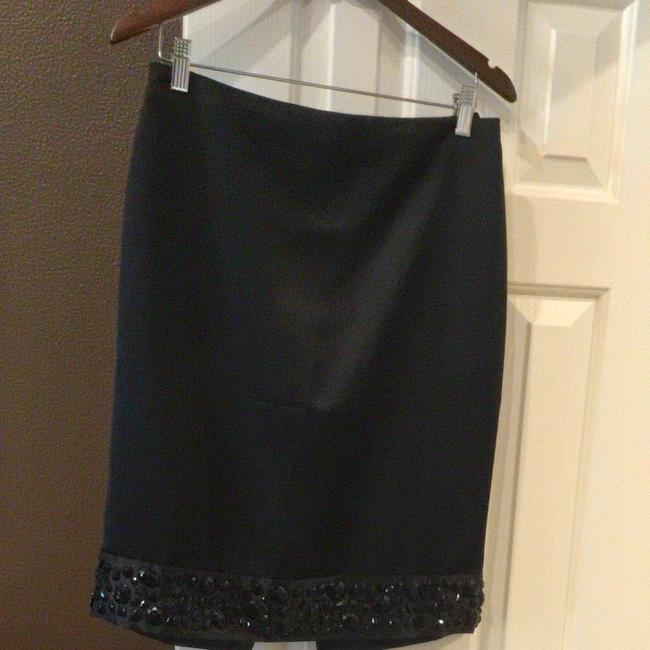 White House | Black Market Beautiful Black Strapless Top And Beaded Pencil Skirt