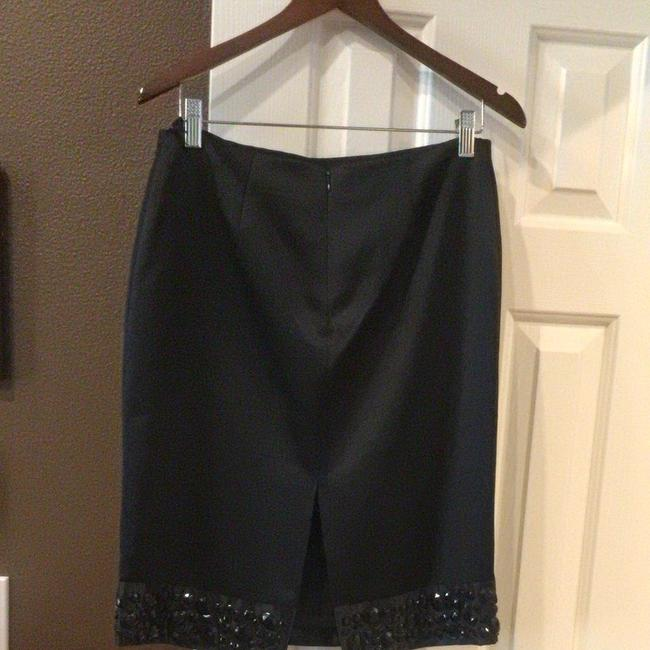 White House   Black Market Beautiful Black Strapless Top And Beaded Pencil Skirt