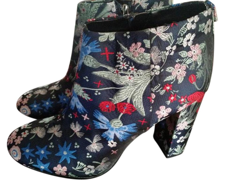 Sam Multi Edelman Grey Multi Sam Cambell Floral Brocade Boots/Booties 62a9d8