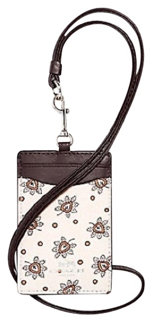 Item - Silver / Chalk Multi Id Lanyard In Forest Bud Print Coated Canvas Tech Accessory