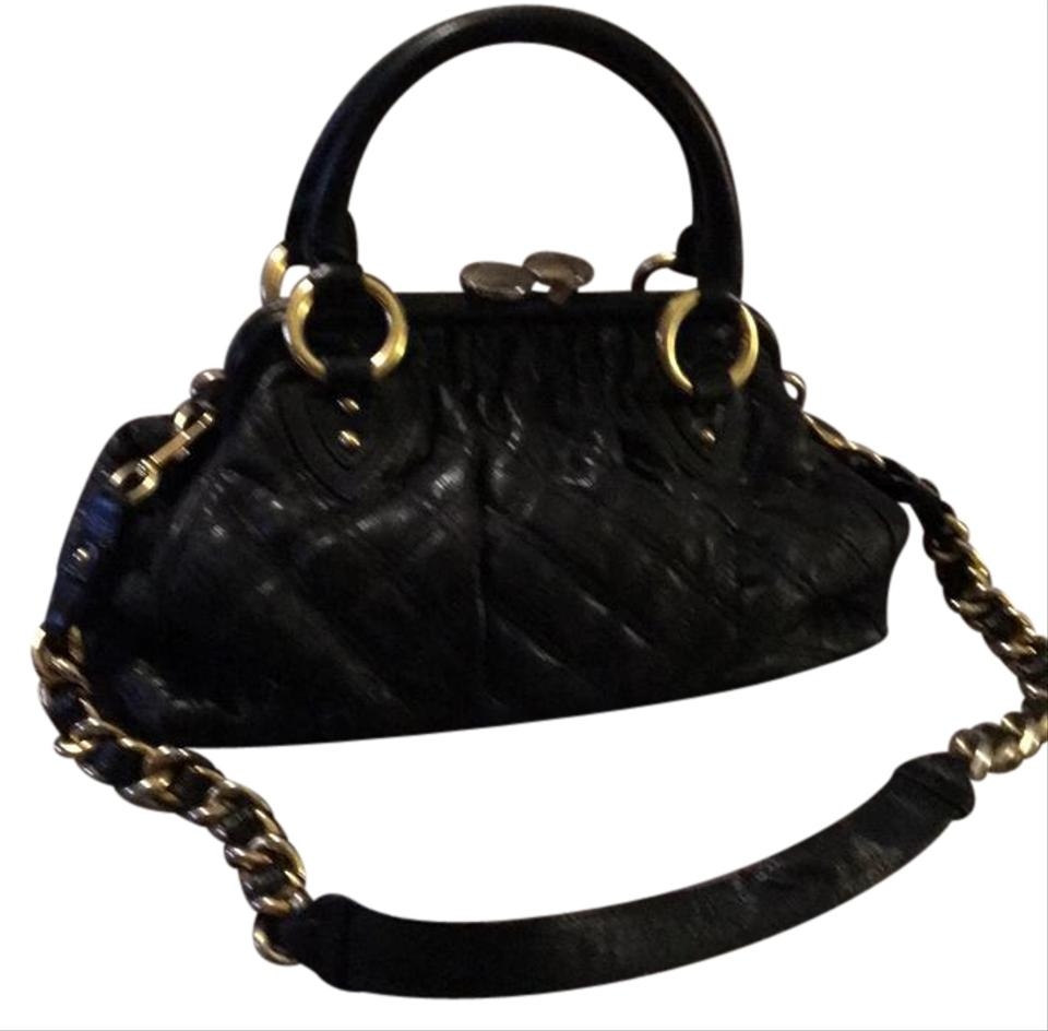 Accents Chain Jacobs Black with Handbag Marc Satchel Gold Leather Y0PCxwq
