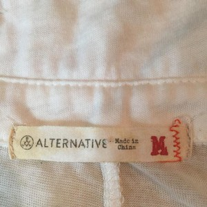 Alternative Apparel Button Down Shirt white