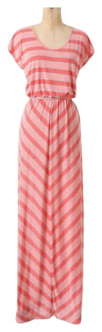 Item - Pink and Grey Puella Long Casual Maxi Dress Size 4 (S)