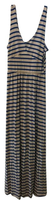 Item - Blue and Grey Stripes Puella Long Casual Maxi Dress Size 2 (XS)