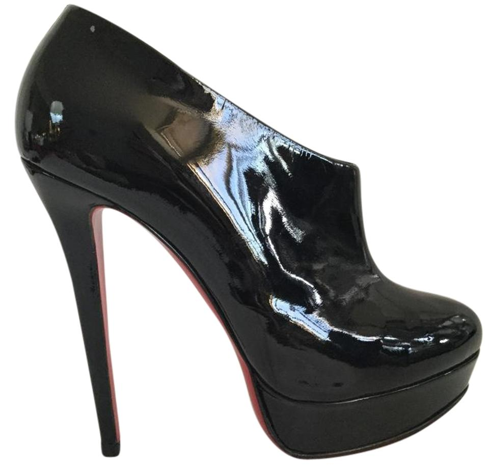 e57cc34696d Christian Louboutin Black Moulage High Heel Lady Red Sole Zip Patent  Leather Platform Ankle Ital Boots/Booties Size EU 40 (Approx. US 10)  Regular (M, ...