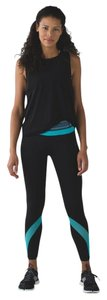 Lululemon Lululemon Run Inspire Tight Mesh Pant Black Space Dye Twist Naval Blue