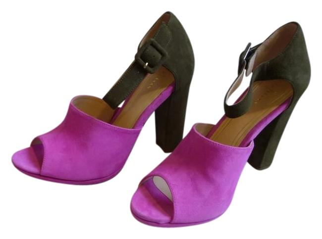 Item - Pink Fatigue Orchid Suede Chelsea Open Toe Sandals Size US 9 Regular (M, B)