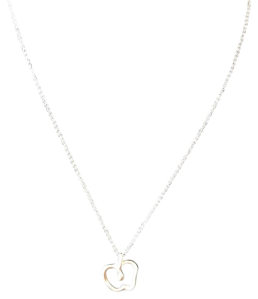 Tiffany co sterling silver elsa peretti apple pendant necklace elsa peretti apple pendant mozeypictures Image collections