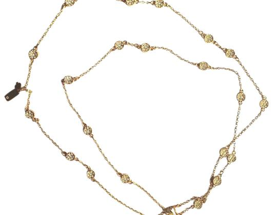 Kate Spade 12K Kate Spade Long NECKLACE Gold Plated Limited Edition