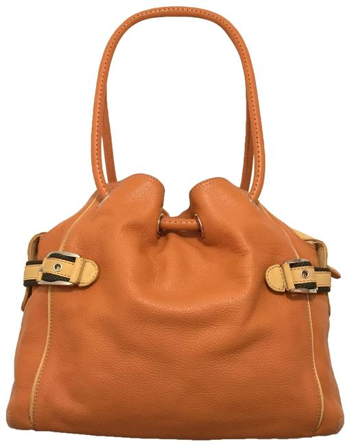 Item - & Pouch Orange Multi Leather Tote