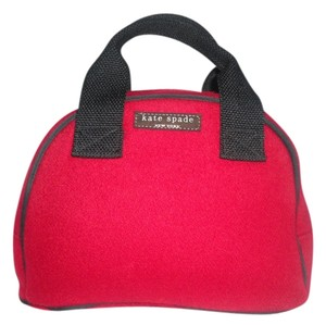 Kate Spade Wool Candy Apple Bowler Satchel Tote in Red