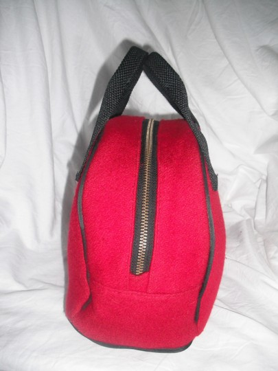 Kate Spade Wool Candy Bowler Satchel Tote in Red