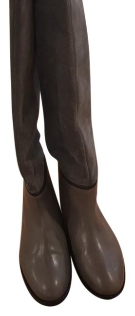 Item - Gray To The Knee Boots/Booties Size US 6.5 Regular (M, B)