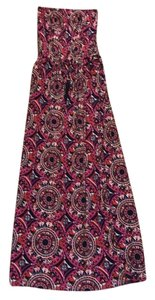 Pink/Navy Maxi Dress by Macbeth Collection
