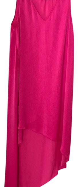 Item - Hot Pink High Low Mid-length Cocktail Dress Size 00 (XXS)