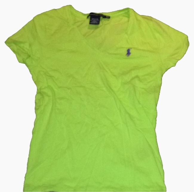 Preload https://img-static.tradesy.com/item/2214483/polo-sport-lime-signature-v-neck-tee-shirt-size-4-s-0-0-650-650.jpg