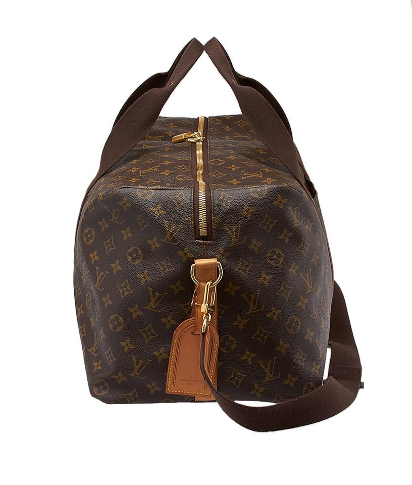louis vuitton beaubourg gm weekender monogram duffle bag 37406 brown tradesy. Black Bedroom Furniture Sets. Home Design Ideas
