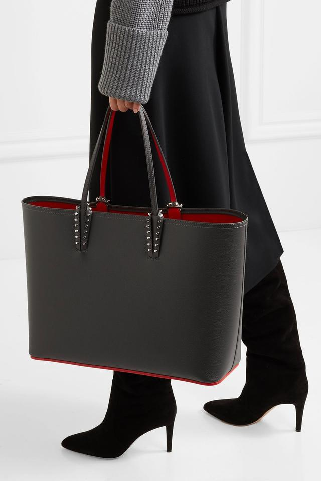 ae4b498d8c37 Christian Louboutin Ships Immediately - - Cabata Gray Leather Tote 11% off  retail