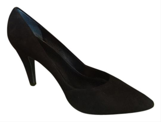 BP. Clothing Court Suede Pointed Toe black Pumps