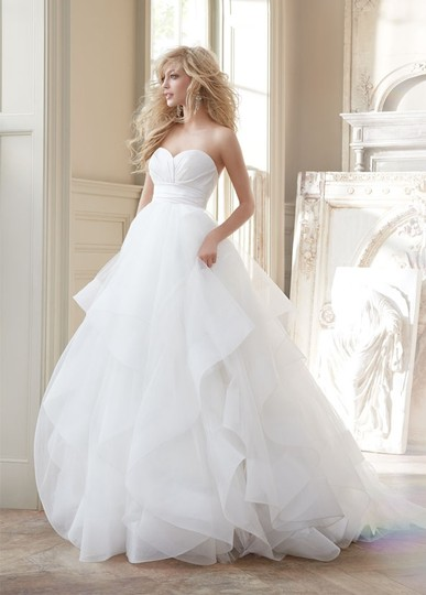 Preload https://img-static.tradesy.com/item/2214540/hayley-paige-ivory-silk-radzmir-crossover-bodice-full-tulle-skirt-with-horsehair-flounces-and-chapel-0-0-540-540.jpg