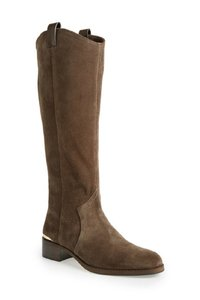 Louise et Cie Grey Suede Leather Tall Riding Olive Boots