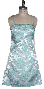Edward Cromarty Art Design Studio short dress Floral Turquiose Turquoise on Tradesy