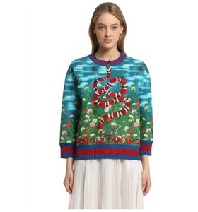 Gucci Chic Colorful Embroidered Modern Litmitededition Sweater