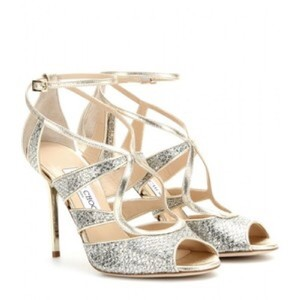 Jimmy Choo Glitter Champagne Pumps