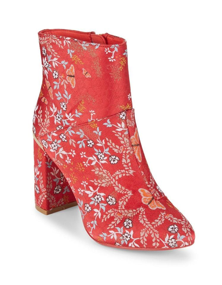 promo codes incredible prices hot sale Ted Baker Red Ishbel Textile Boots/Booties Size US 9 Regular (M, B) 69% off  retail